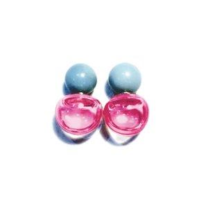 画像1: Fantastic Planet Earrings MINI Pink&Blue