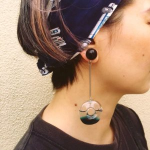 画像2: Flying Donuts Earrings Deep Blue