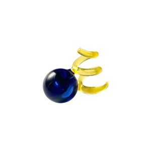 画像1: N.Spiral Glass Earrings - Blue&Yellow -
