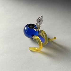 画像3: N.Spiral Glass Earrings - Blue&Yellow -